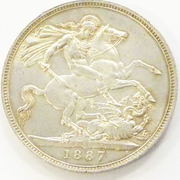 /OLD BRITISH COINS/Victoria Jubilee Crown 1887 UNC