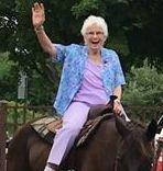 Senior on horse