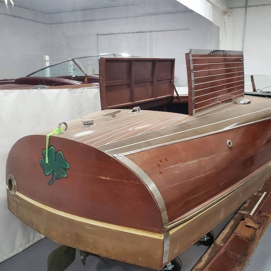 chris craft barrel back restoration