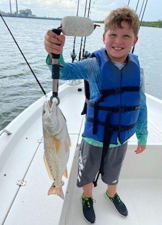 San Antonio Redfish Calaveras lake Fishing