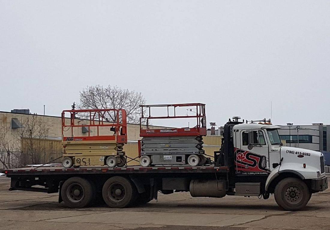 scissor lift, edmonton, deck truck, tilt truck, CSL