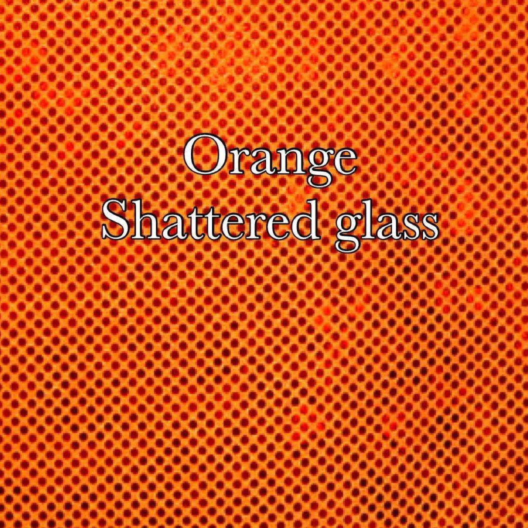 Orange shattered glass