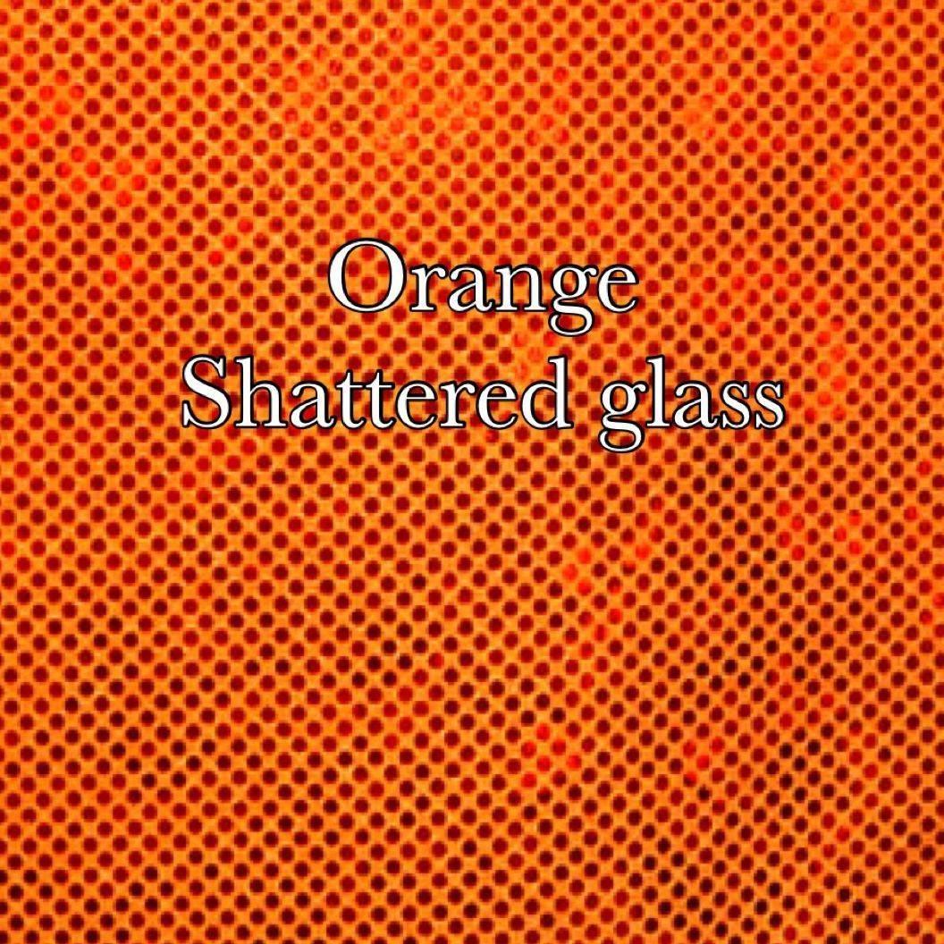 Orange shattered glass