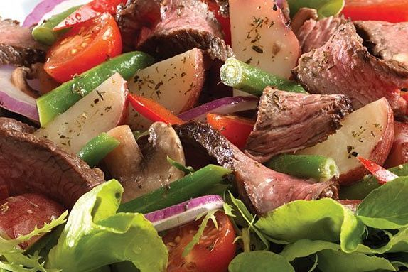 Grilled Steak and Roasted Potato Salad