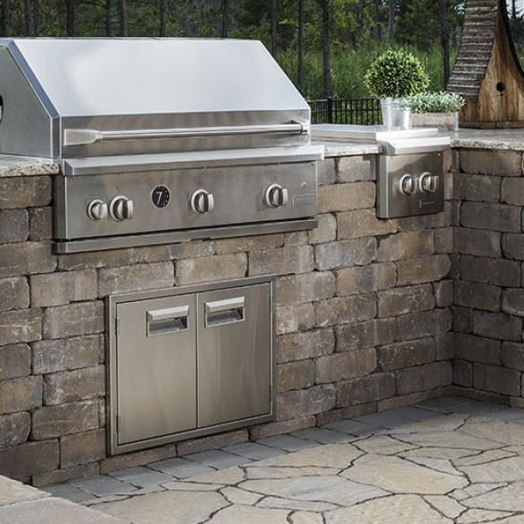 paver kitchen, outdoor living, brick paver, paver walls, paver company