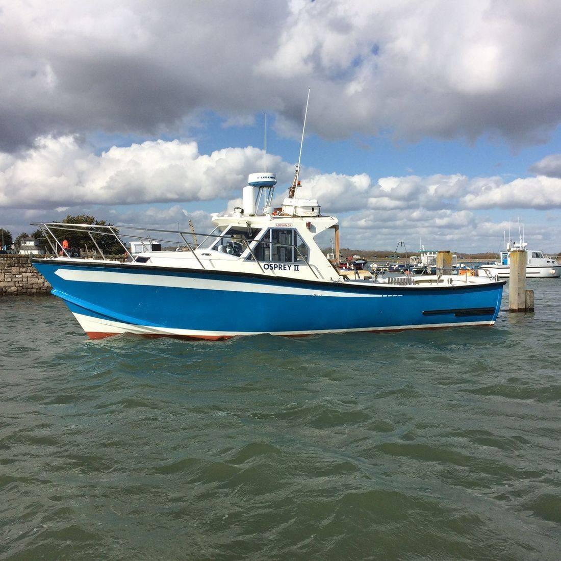 Fishing boat Osprey II at Keyhaven