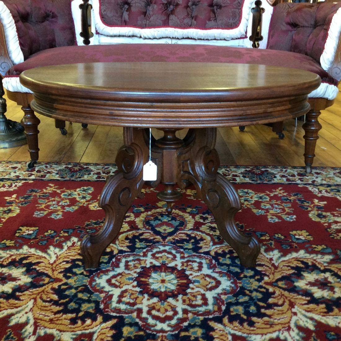 "1890-1910 Victorian Parlor Tea Table 29""L x 23""W x  17-1/2"" H.   $150.00"