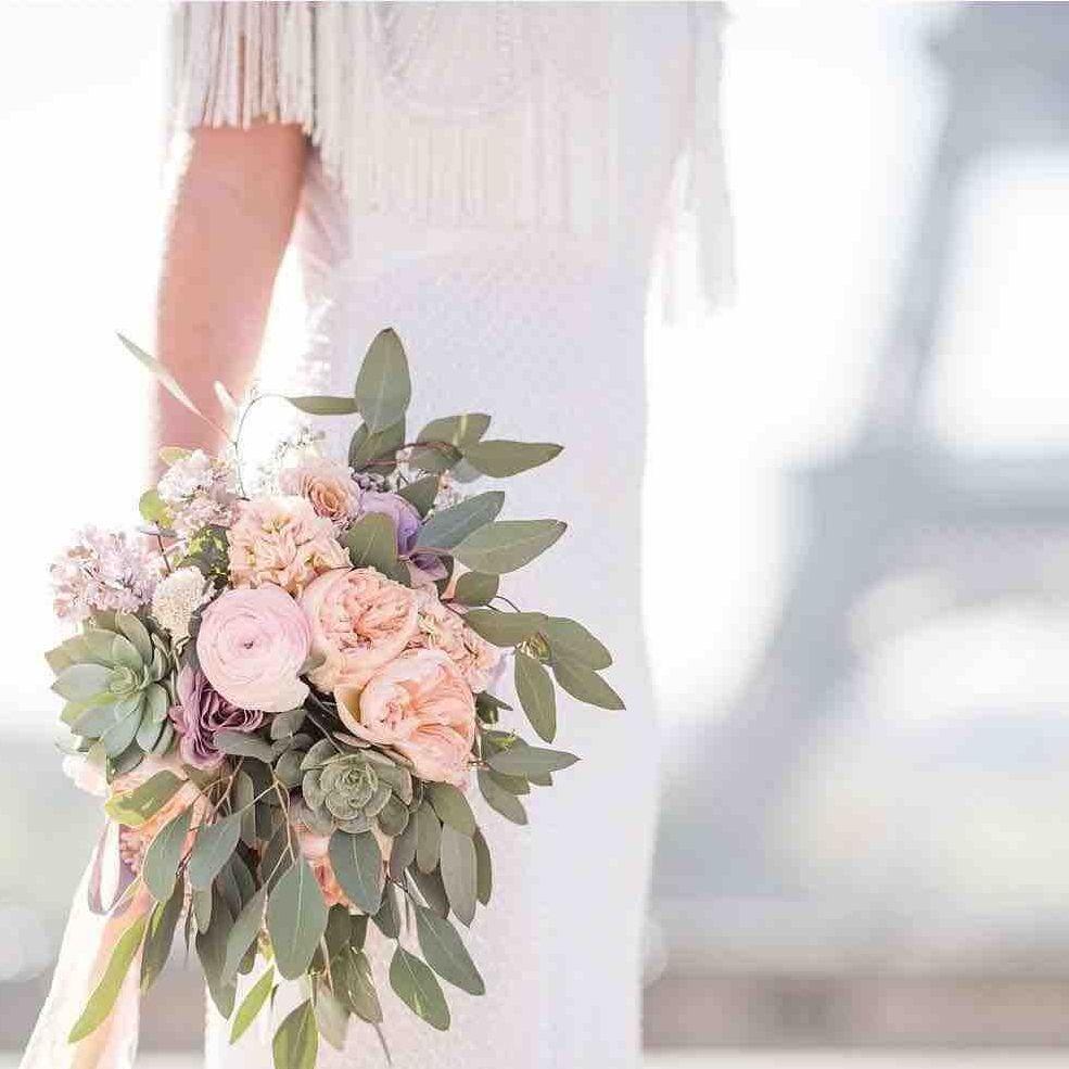 Copper wedding bouquet