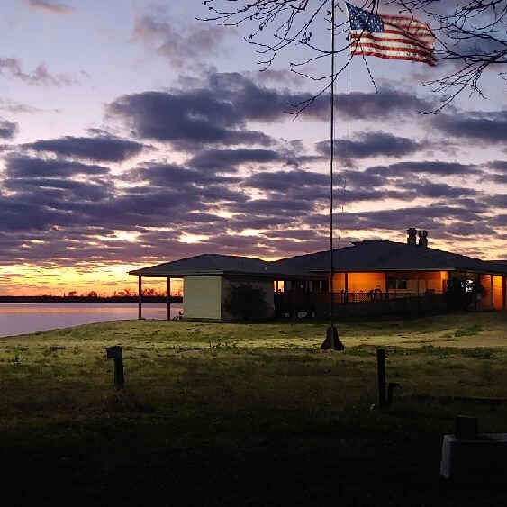 sunset, red river, marina, flag, RV Park, scenic, Natchitoches