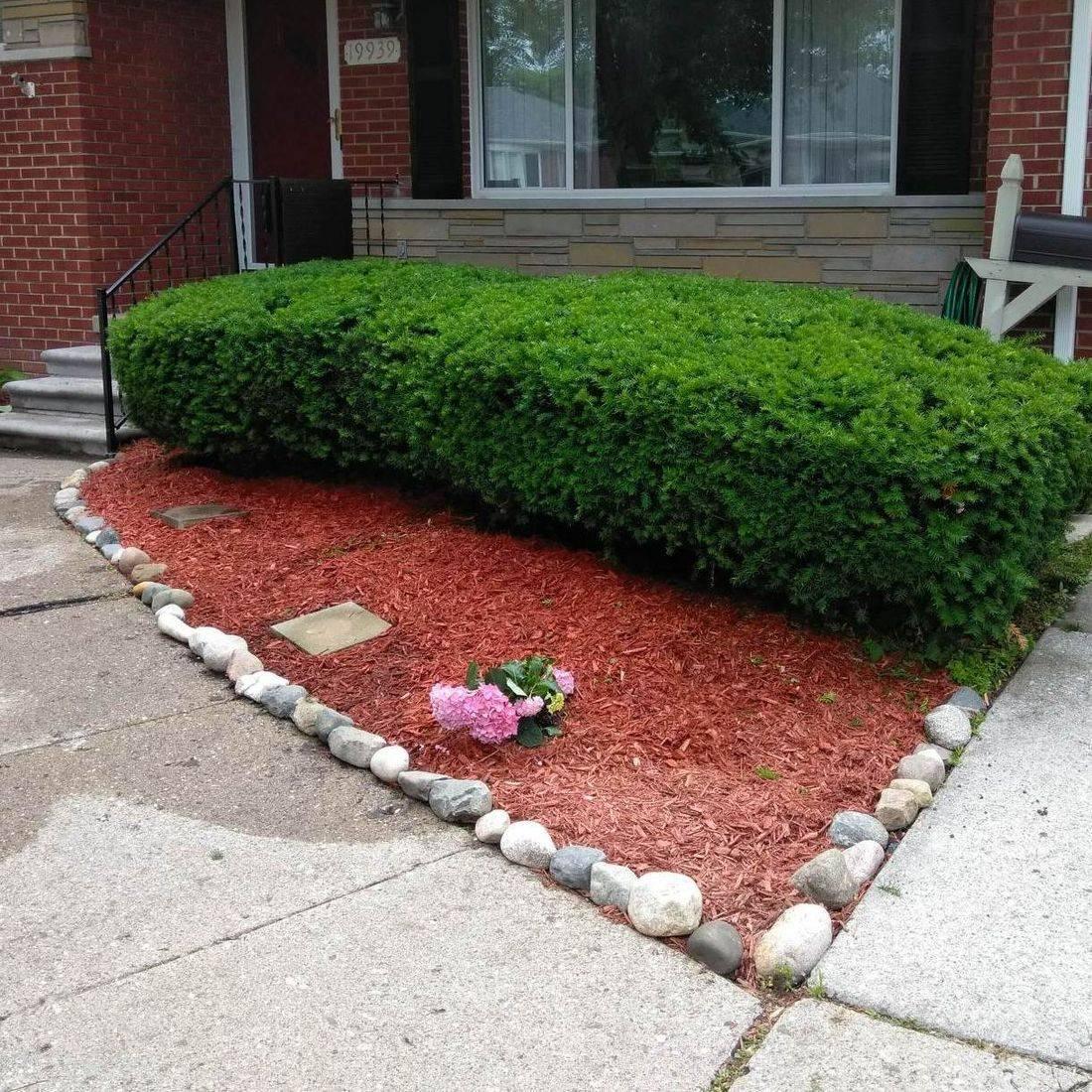 Harper Woods front garden rebuild sidewalk