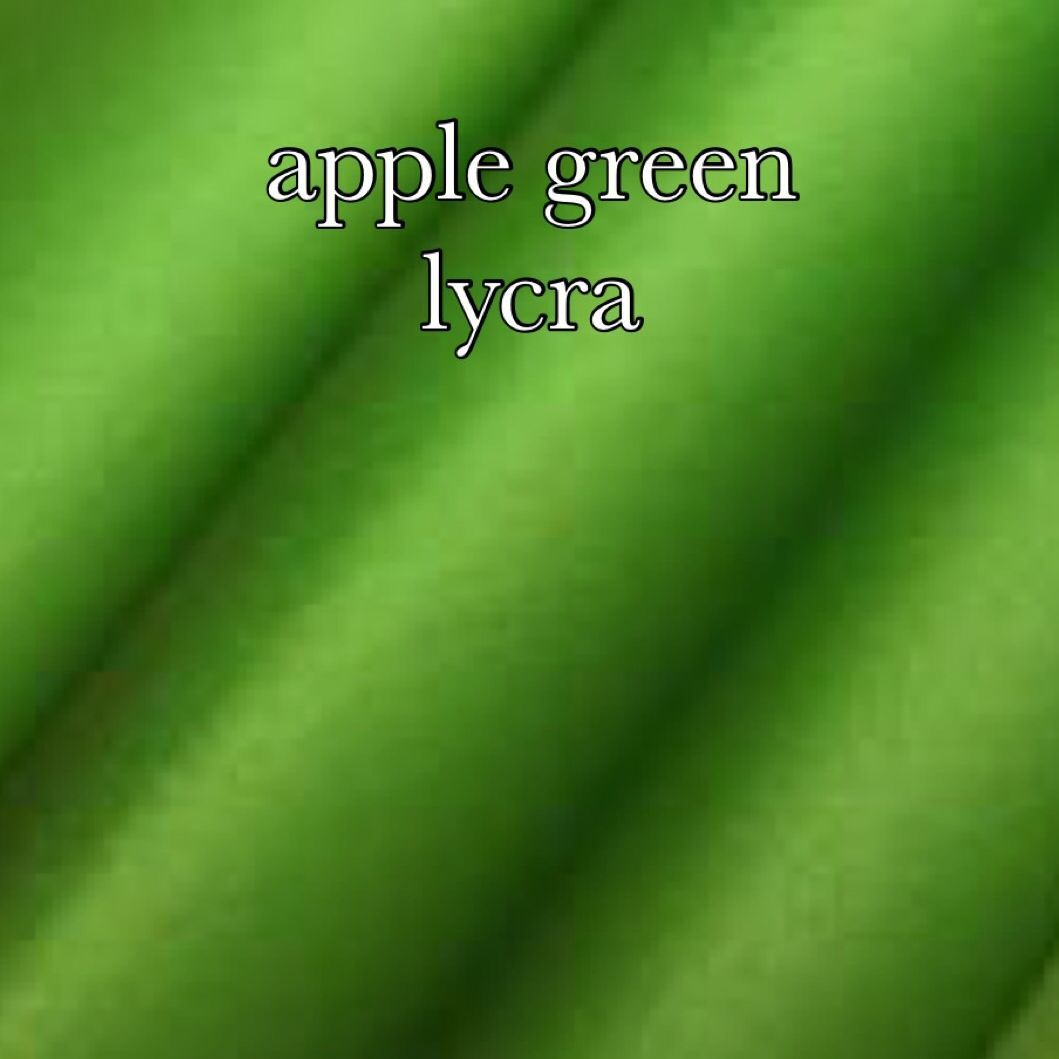 Apple green lycra