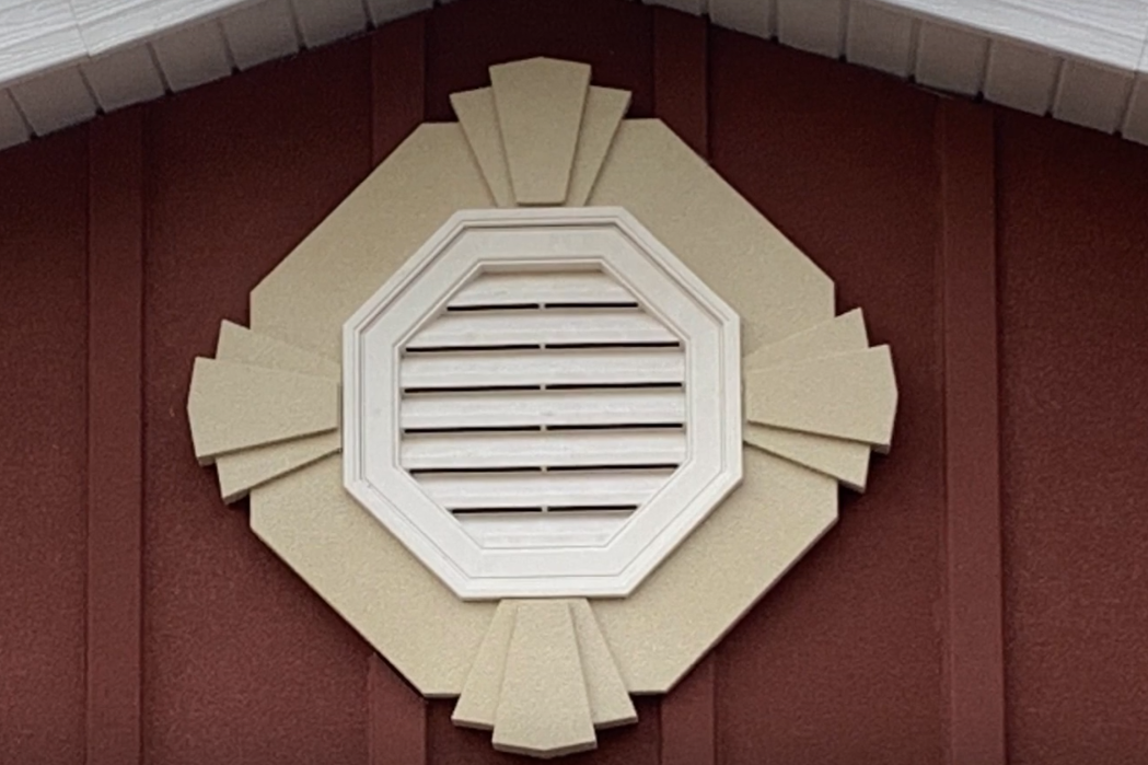 Stucco Octagon Gable Vent Trim Kit