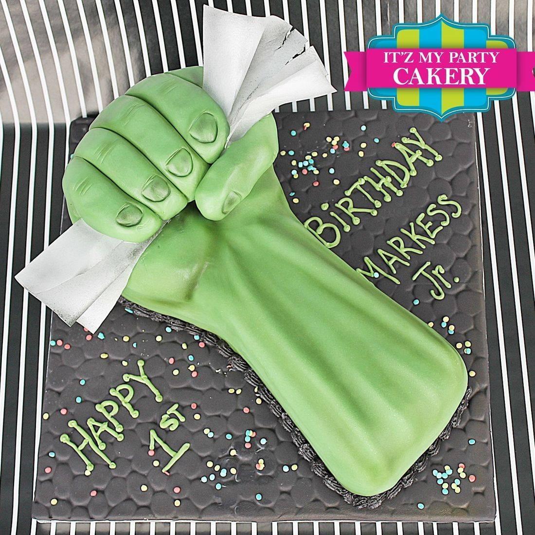 Hulk Fist Dimensional Cake Milwaukee