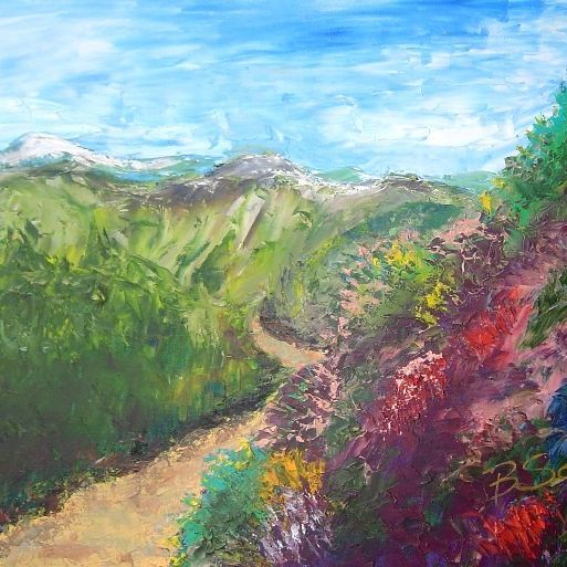 hillside painting