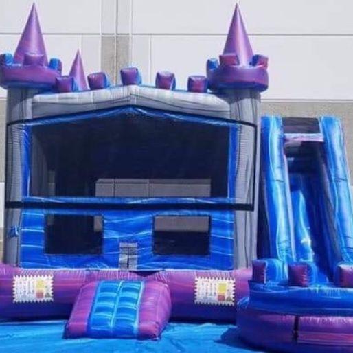 Purple Castle Happy Birthday Dry slide Combo