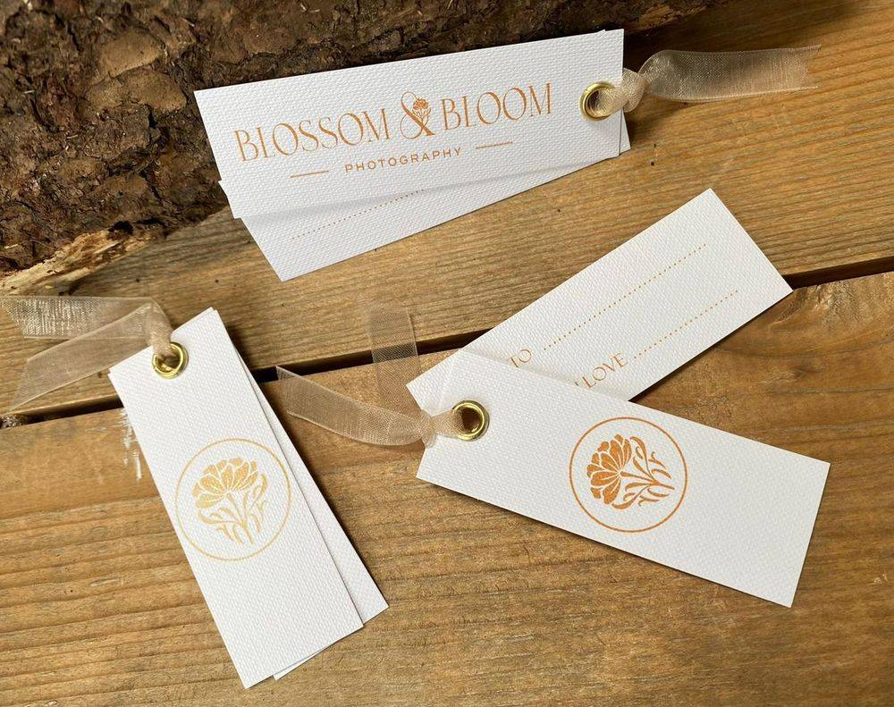 Company branding, gift tags