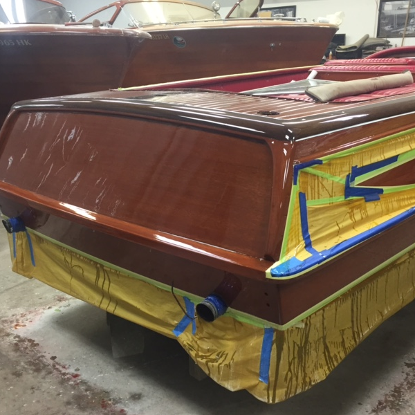 Streblow refinish at Bergersen Boat