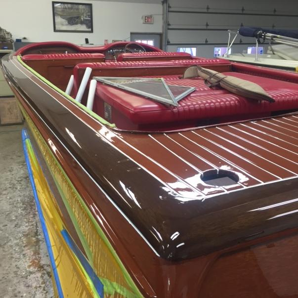 Streblow restoration at Bergersen Boat