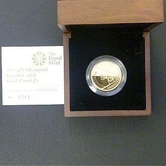£2 Gold Proof/4th Olympiad London