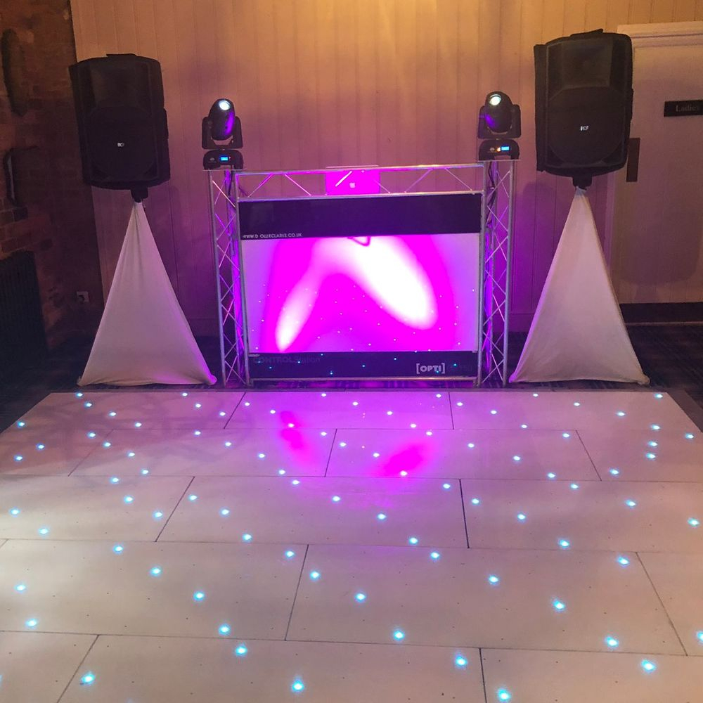 The Bell at Belbroughton Wedding DJ LED DANCEFLOOR