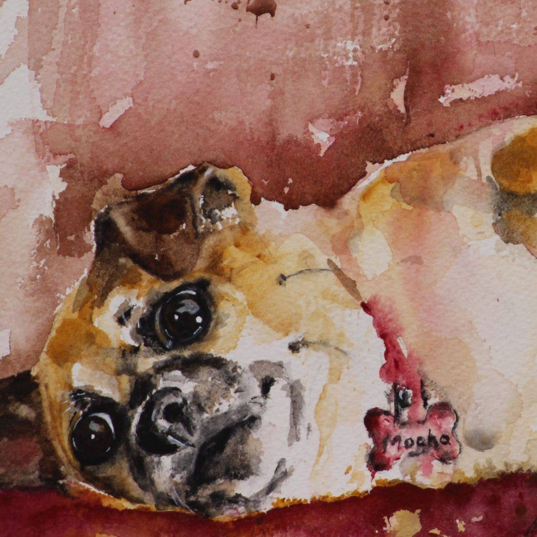 pet portrait, dog painting, pet painting