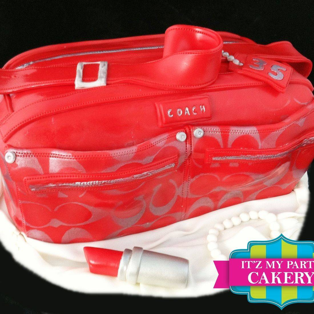 Purse Coach Carved Dimensional Cake Milwaukee