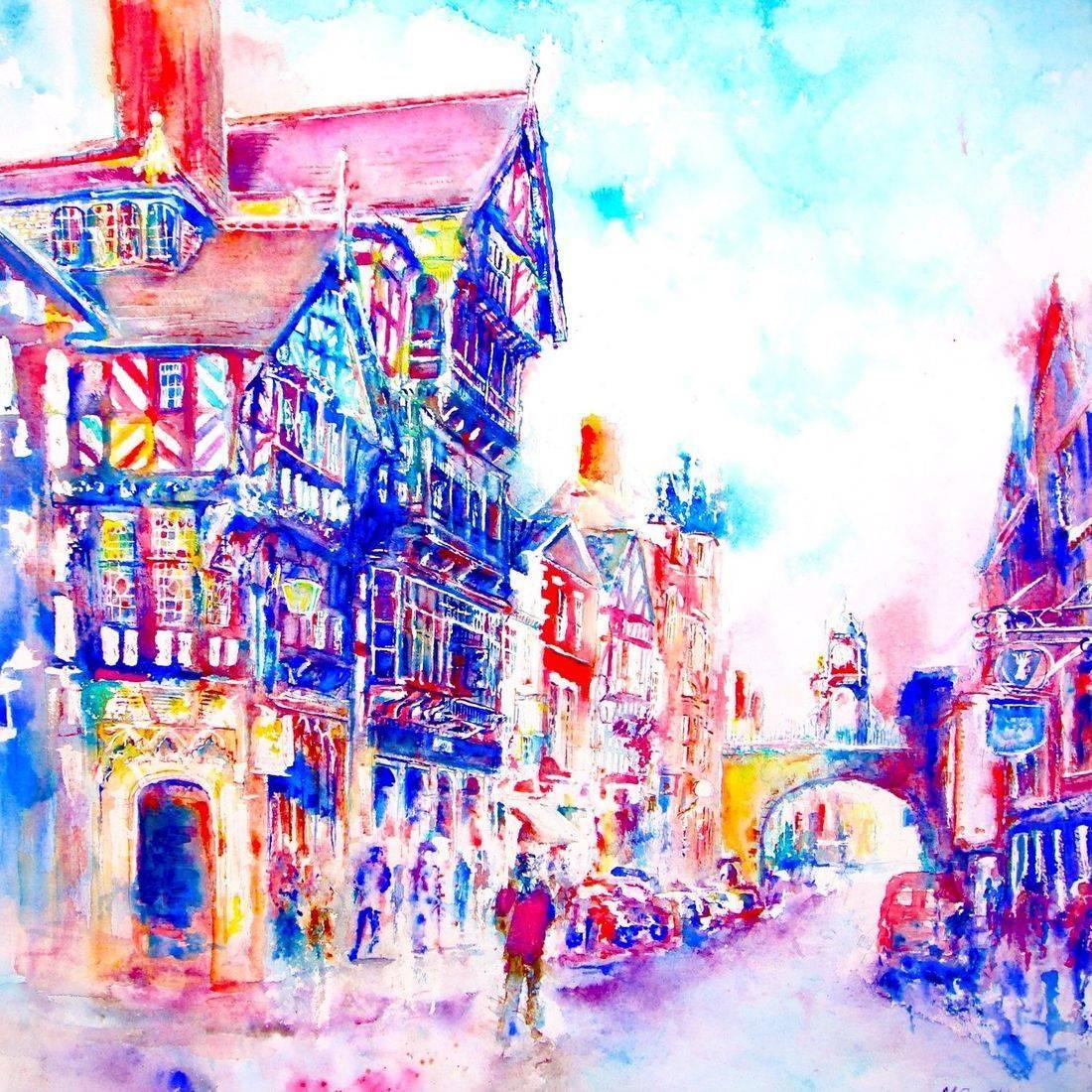 Chester High Street by Mary Saifelden