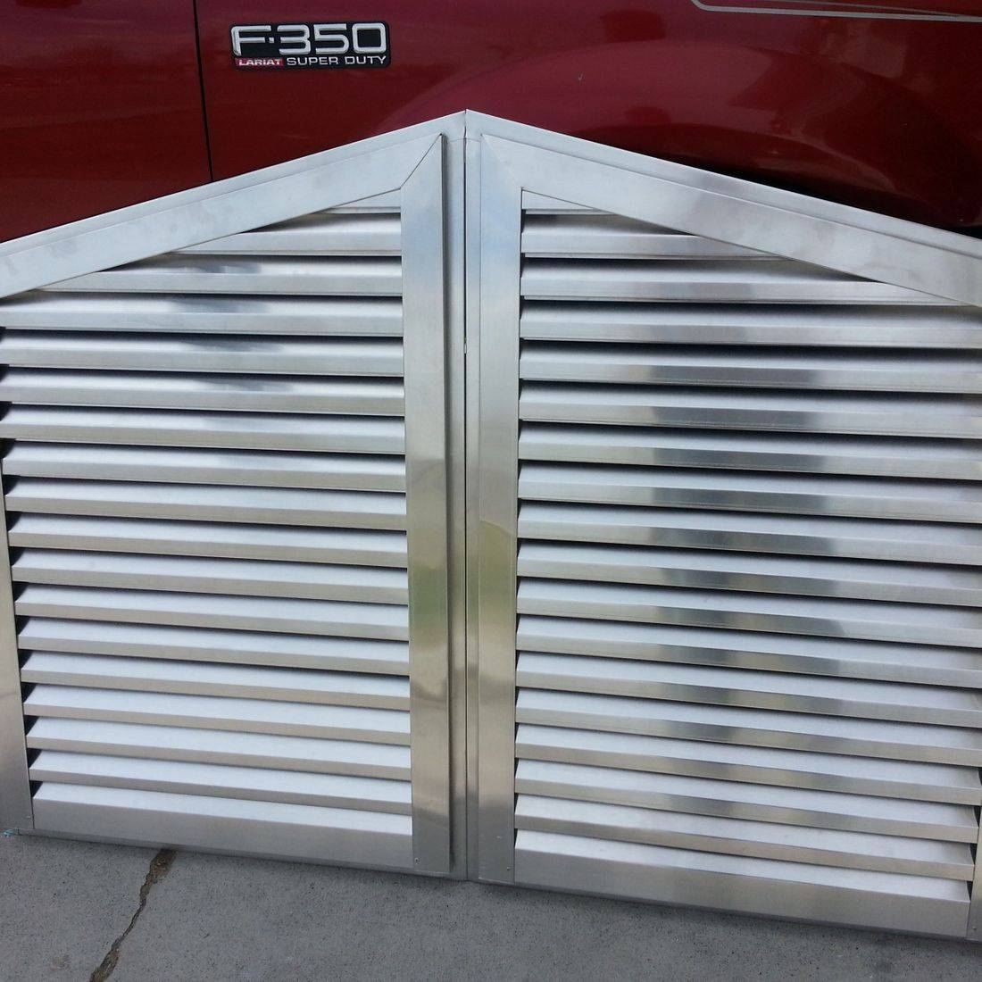 Mill finish aluminum gable vents