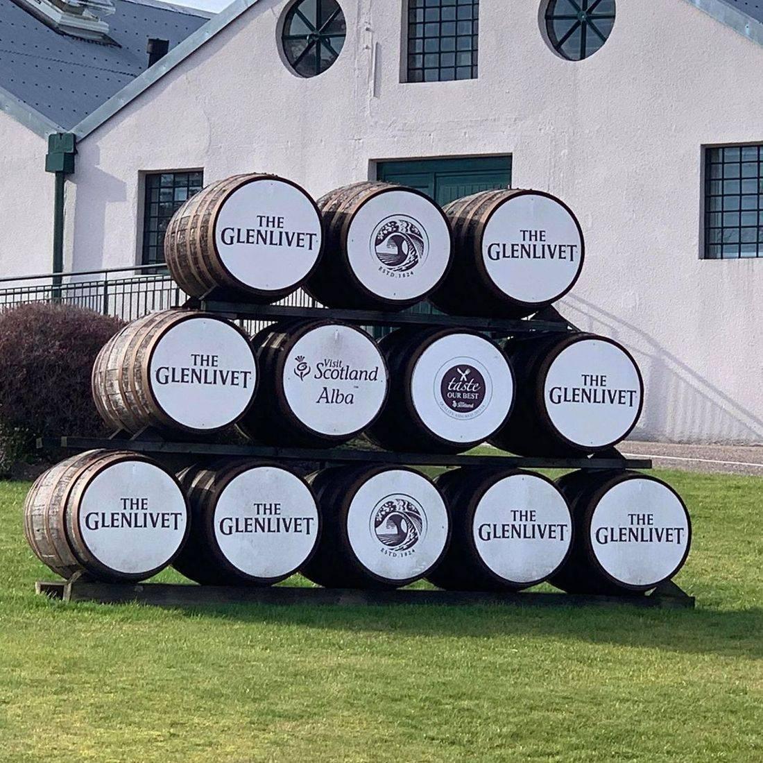 Glenlivit Distillery part of our whisky trail tour