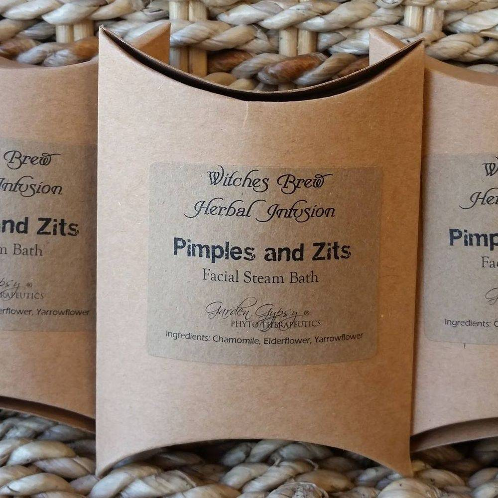 witches brew acne facial steam bath herbal blend pimples and zits