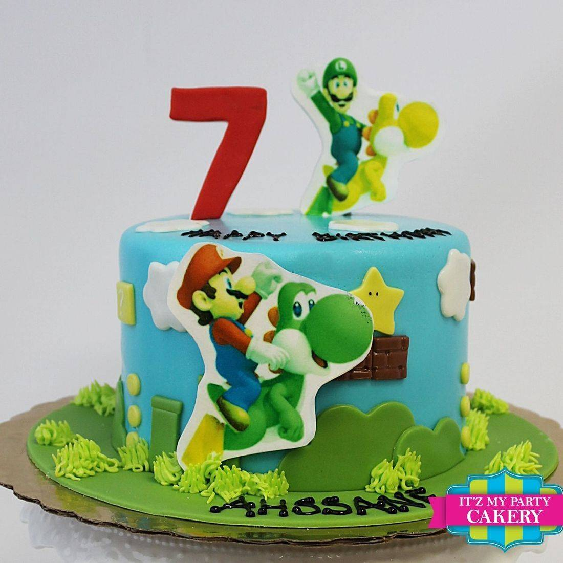 Custom Mario Luigi Cake Milwaukee