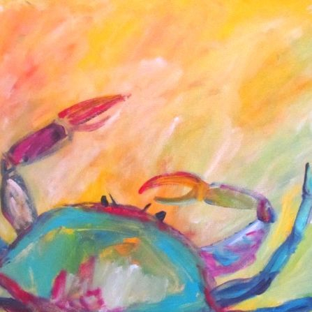 Crab painting abstract