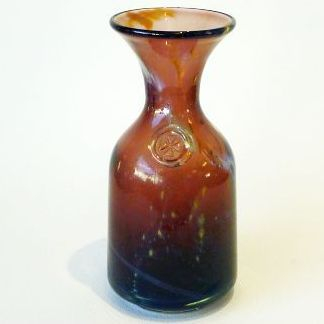 MDINA GLASS VASE with Mdina prunt,18cm
