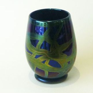 ISLE OF WIGHT GLASS FOR SALE/Ribbons vase 13.5cm
