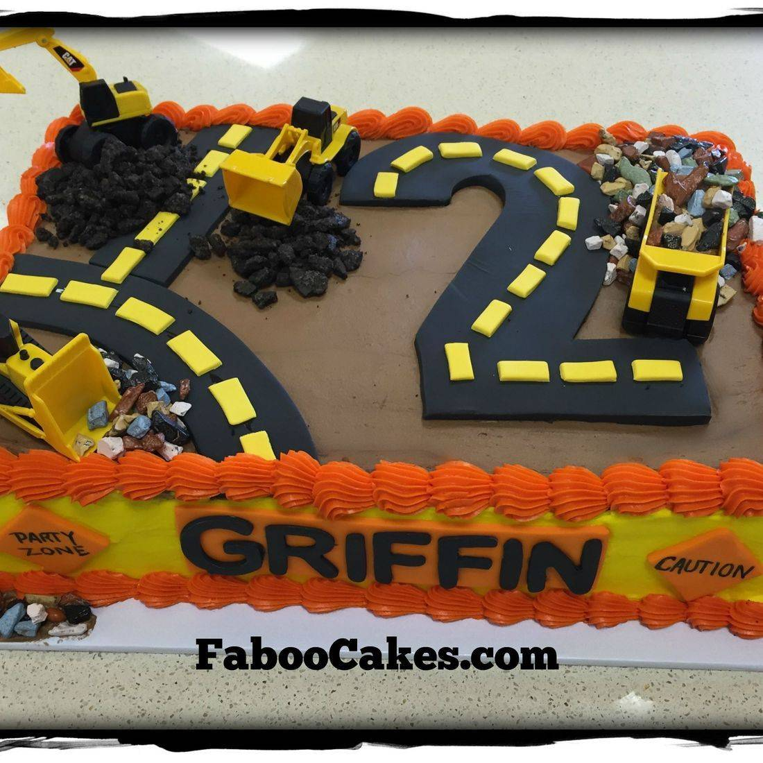 construction birthday cake boy cake digging cake