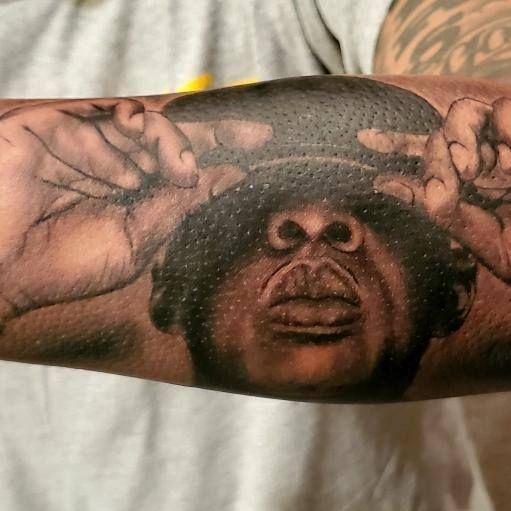 Realism Lion tattoo, in Ann Arbor tattoo shop