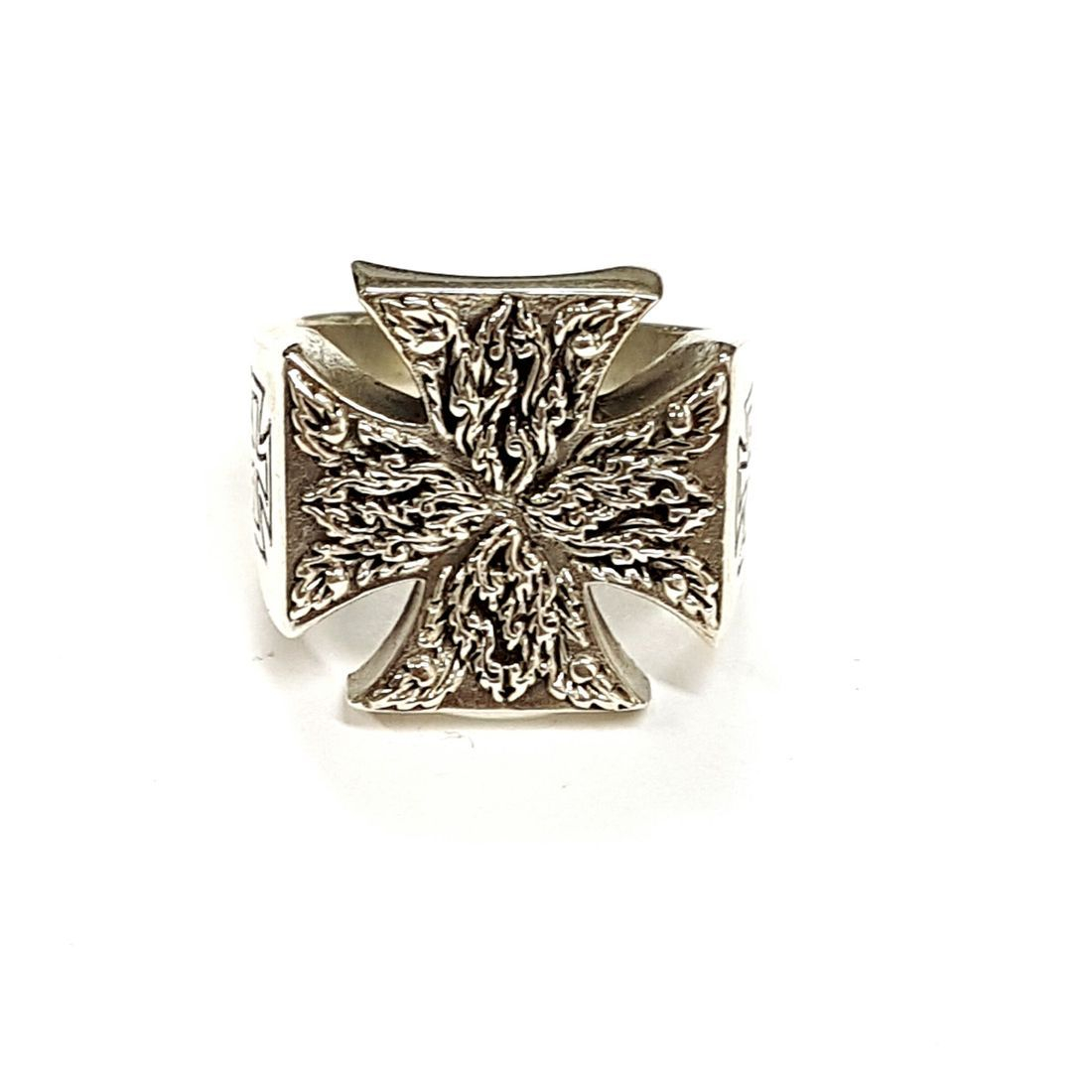 Decorative Maltese Cross Ring available at Kazbah online and our Leicester City Centre shop