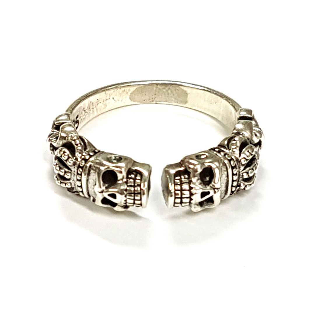 Skull & Crown Open Ring  available at Kazbah online and our Leicester City Centre shop