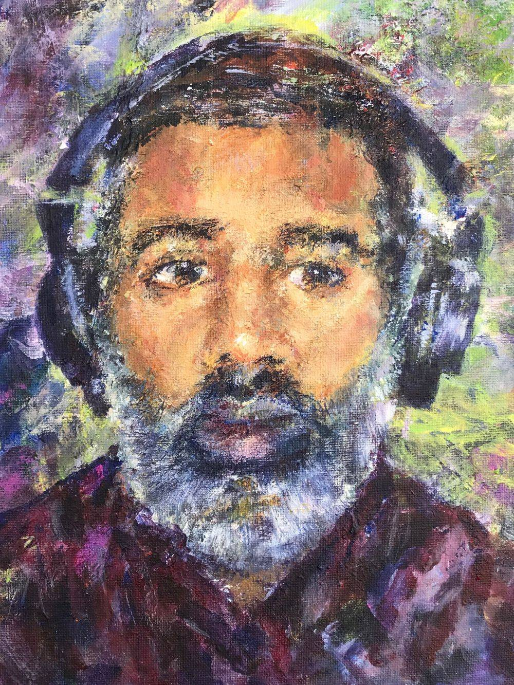 Nihal Attanayake, BBC Radio DJ. Portrait by Marcia Kuperberg