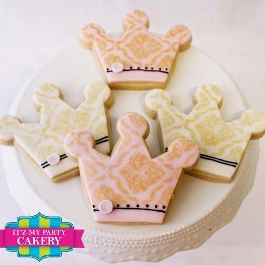 Prince Princess Crown Stencil Cookies Milwaukee