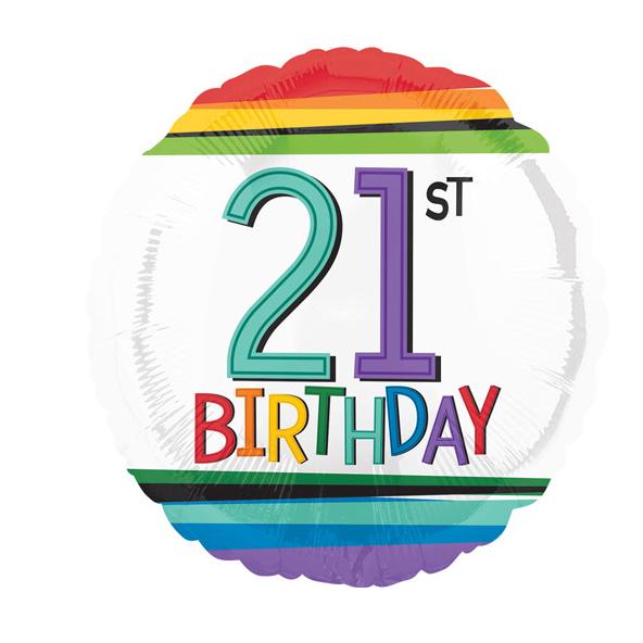 Age 21  Birthday Foil Balloon