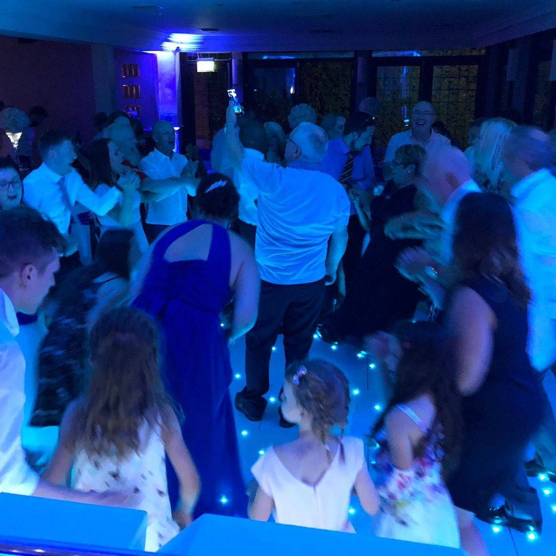 The Stone Manor Kiddermisnter Worcestershire Wedding LED DANCEFLOOR