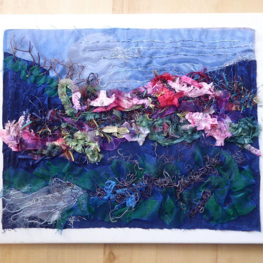 textile design, collage