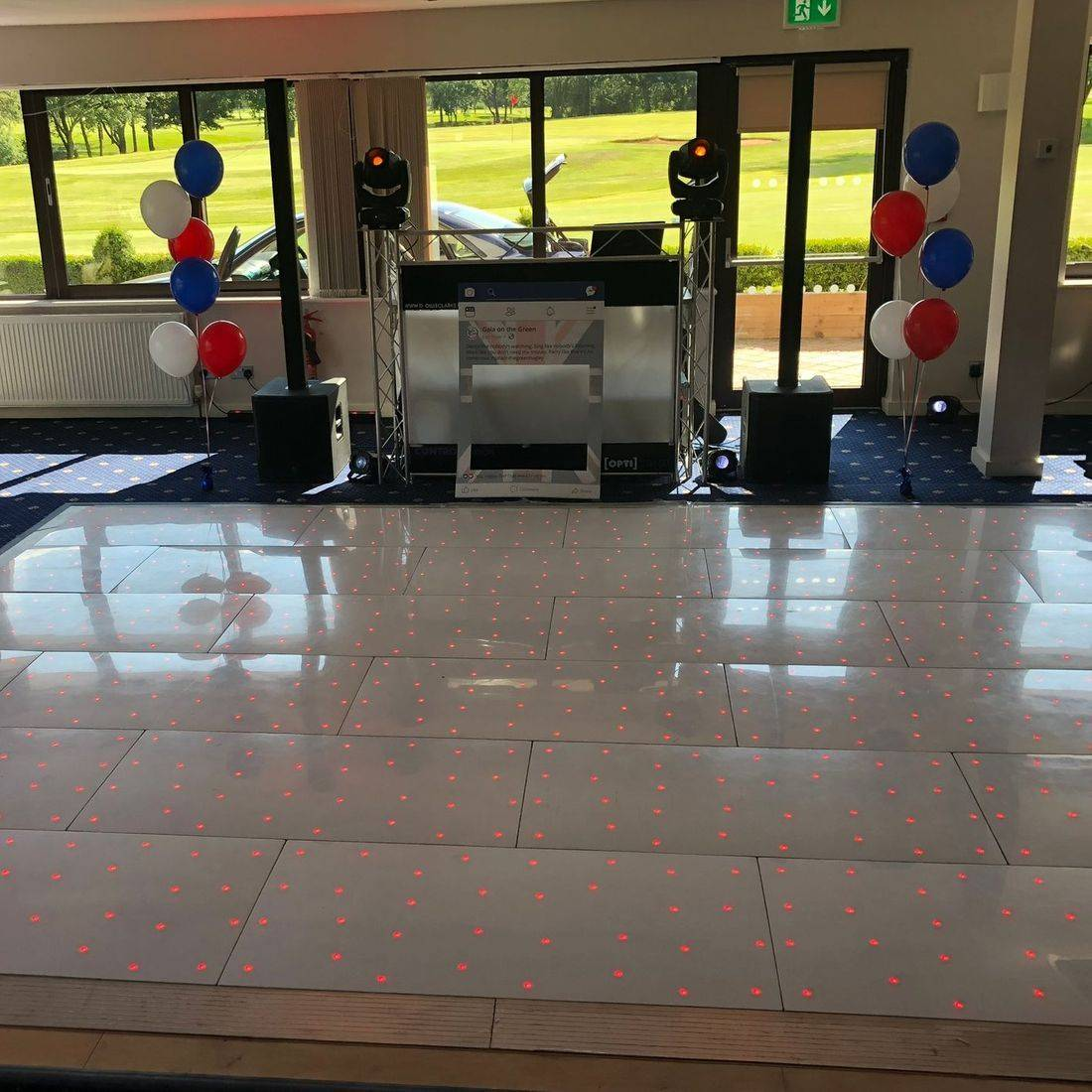 LED Dancefloor Led StarlitDanceflooR Hire  Wedding Hagley