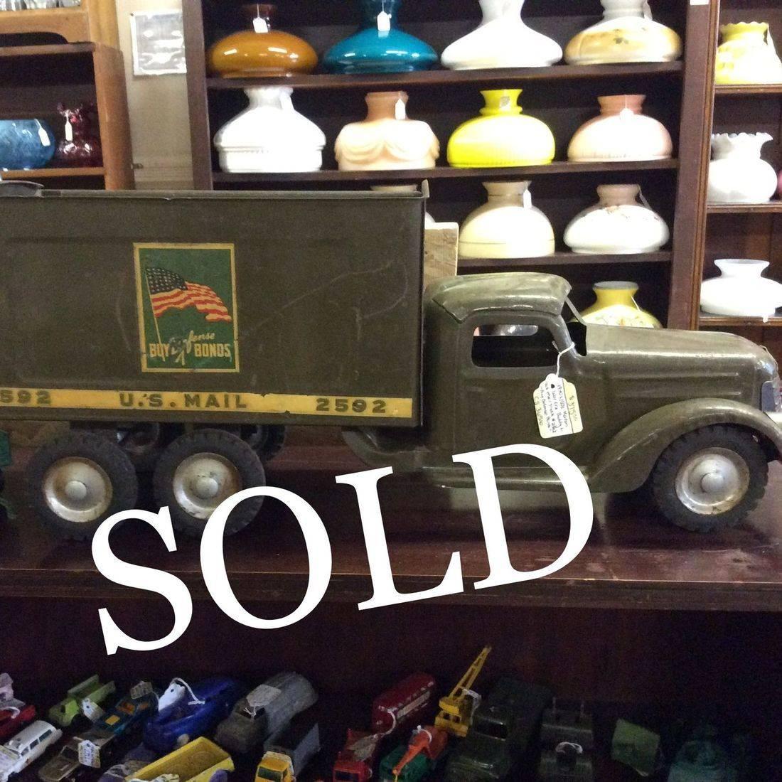 1940's/1950's Korean War Era 'Buddy L.' , U.S. Mail Truck #2592 (no cargo box top)   $375.00