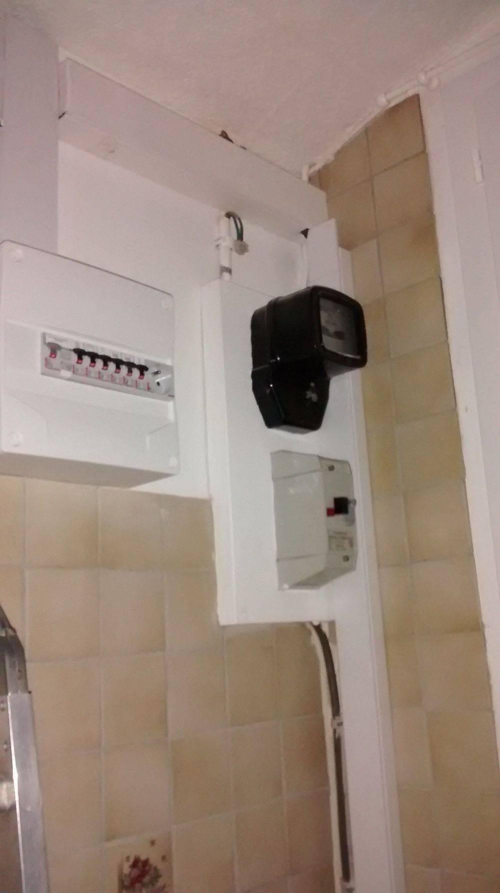 Fermeture boitier pour future alimentation en 3 x 16 mm² avec compteur en RDC.