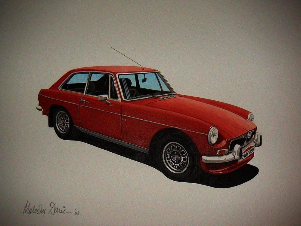 MGB GT  (Acrylic) : Commission (UK)
