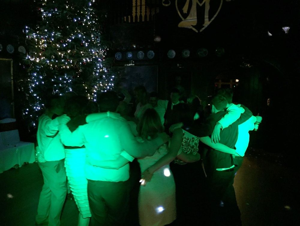 Southport DJ, Glynn Tee, filling the dance floor at a Wedding Reception at Langdale Chase Hotel, Windermere.