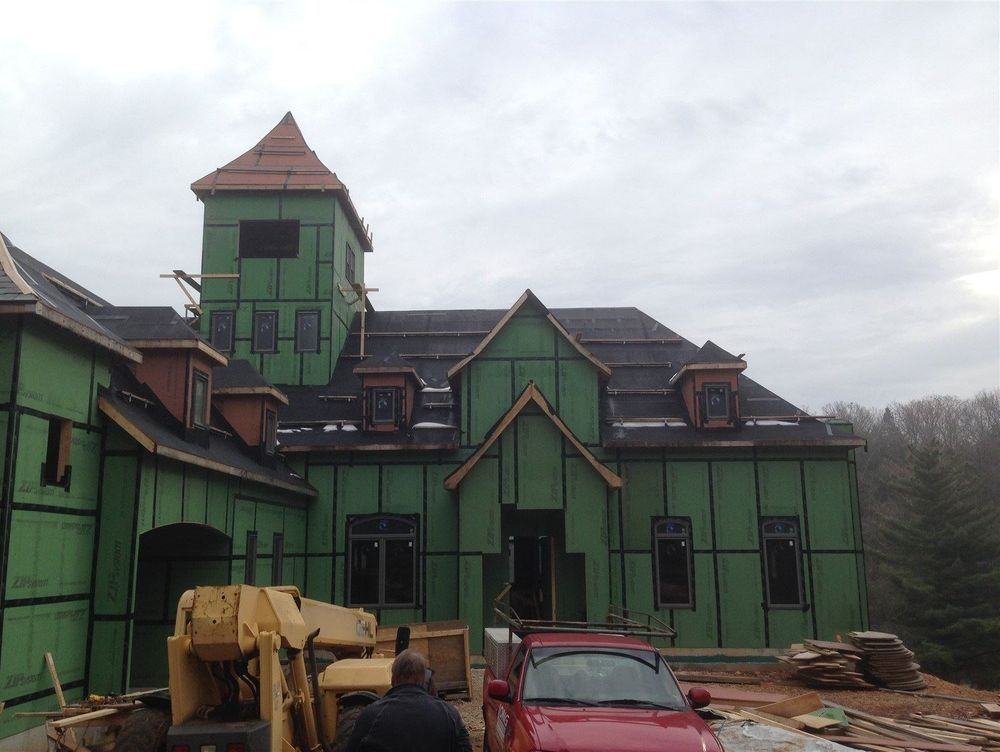 new construction for home owner slate roof to be installed