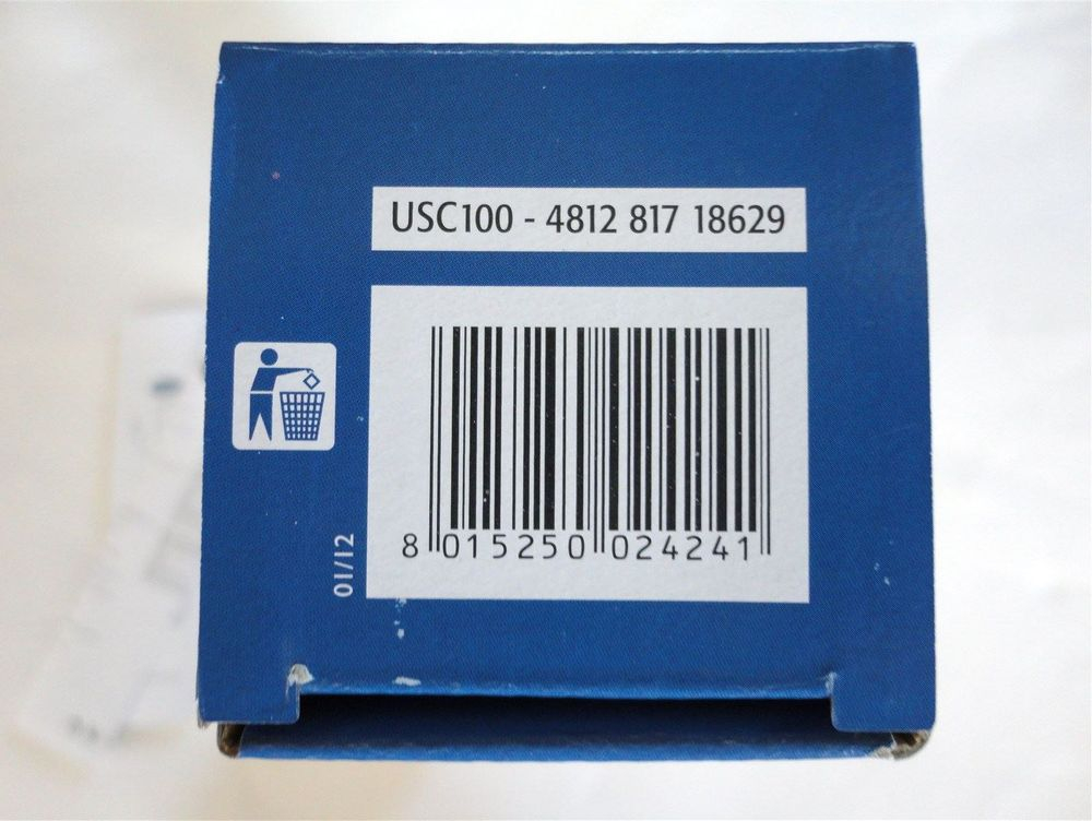 Wpro - Whirlpool - USC100 - USC100/1 - 481281718629 - external inline refrigerator fridge ice water filter cartridge stocked & sold at www.aaafilterfast.co.uk